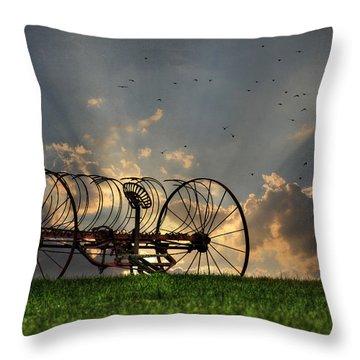 Out To Pasture Throw Pillow by Lori Deiter