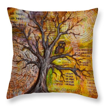 Wisdom Of Positive Thinking Throw Pillow