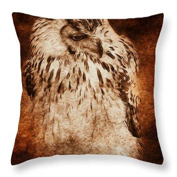 Owl Throw Pillow by Svetlana Sewell