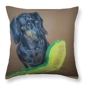Ozzie Dashound Throw Pillow