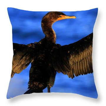 California Blue Throw Pillow