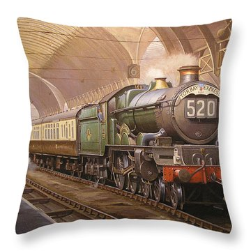 Paddington Arrival. Throw Pillow by Mike  Jeffries