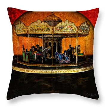 Painted Ponies Throw Pillow by Bob Orsillo