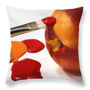 Painting Natures Colors Throw Pillow by Amy Cicconi