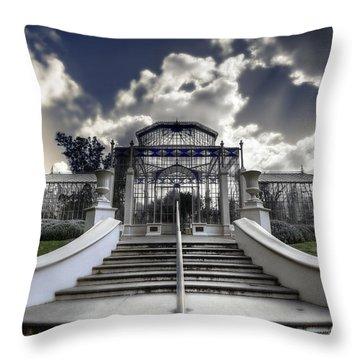 Palm House Throw Pillow by Wayne Sherriff
