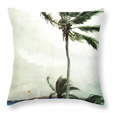 Palm Tree Nassau Throw Pillow