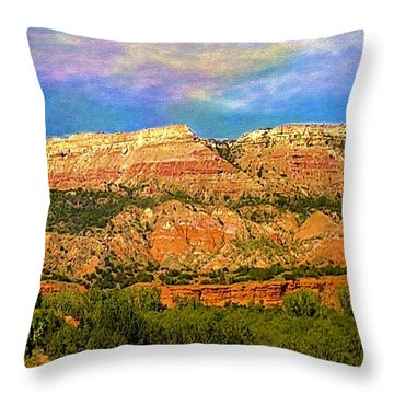 Throw Pillow featuring the photograph Palo Duro Canyon by Janette Boyd