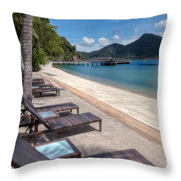 Pangkor Laut Throw Pillow by Adrian Evans