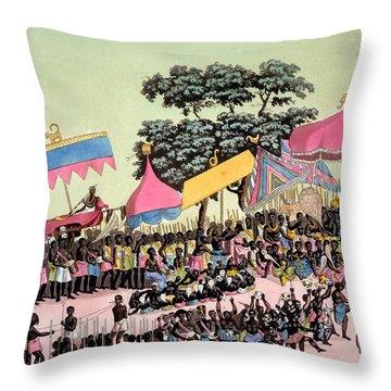 Panoramic View Of The Yam Custom Throw Pillow