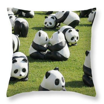 Paper Made Pandas From World Wildlife Throw Pillow