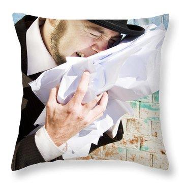 Paperwork Blues Throw Pillow