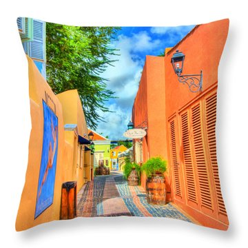Paradise Colors Throw Pillow