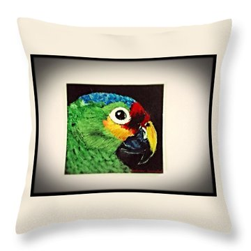 Parrot Throw Pillow by Catherine Swerediuk