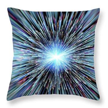 Particle Accelerator Throw Pillows