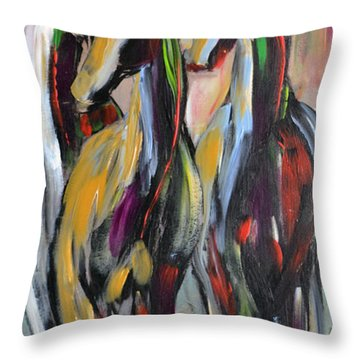 Party Of Three Throw Pillow by Cher Devereaux