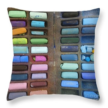 Pastels Throw Pillow by Bernard Jaubert
