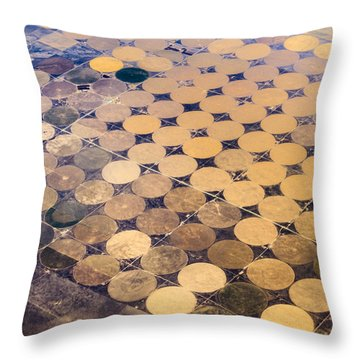 Patchworks. Aerial View To Texas's Fields Throw Pillow