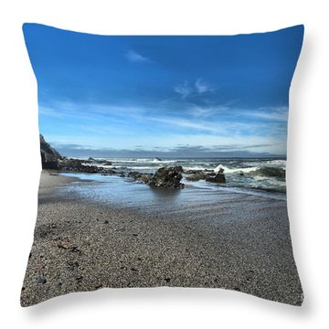 Patrick's Point Landscape Throw Pillow by Adam Jewell