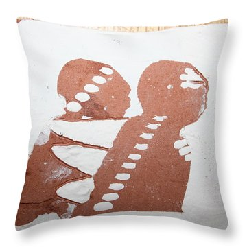 Paul - Tile Throw Pillow by Gloria Ssali
