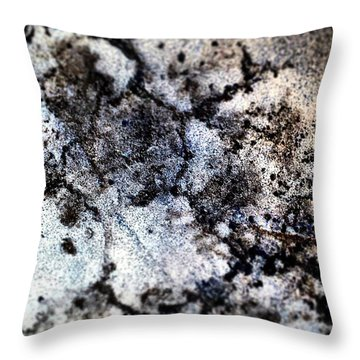 Pavement In Negative. Throw Pillow by Jason Michael Roust