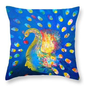 Peacock Life Throw Pillow