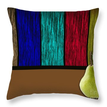 Pear Throw Pillow by Marvin Blaine