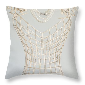 Pearls Throw Pillow by Margie Hurwich