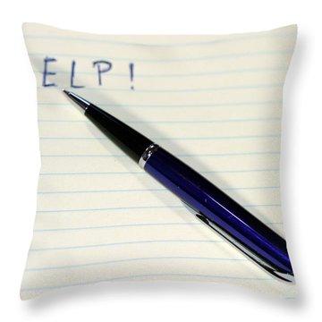 Pen Help Throw Pillow by Henrik Lehnerer