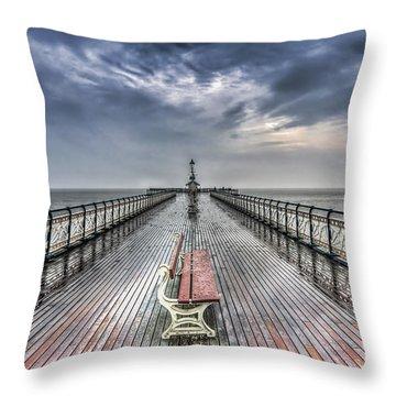 Penarth Pier 4 Throw Pillow