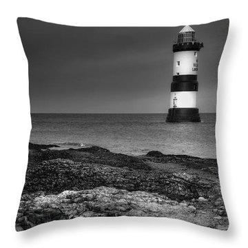 Penmon Lighthouse Throw Pillow