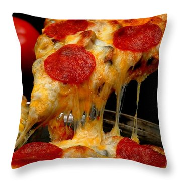 Pepperoni Pizza Slice Throw Pillow