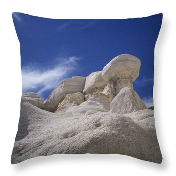 Throw Pillow featuring the photograph Perched by Carlee Ojeda