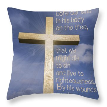 1 Peter 2 24 Throw Pillow