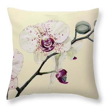 Phalaenopsis Black Panther Orchid Throw Pillow