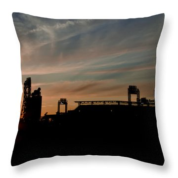 Phillies Stadium At Dawn Throw Pillow by Bill Cannon