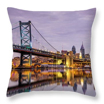 Throw Pillow featuring the photograph Philly by Mihai Andritoiu