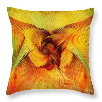 Phoenix Throw Pillow by Klara Acel