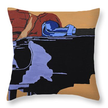 Piano And I Throw Pillow