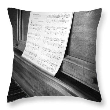 Piano Man Throw Pillow by Jerry Cordeiro