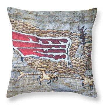 Throw Pillow featuring the photograph Piasa Bird by Kelly Awad