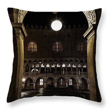Piazza San Marco Throw Pillow by Marion Galt