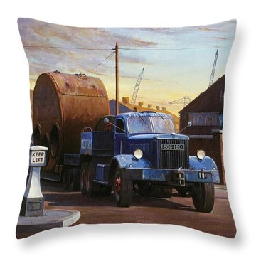 Pickfords Diamond T Throw Pillow by Mike  Jeffries