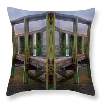 Pier Throw Pillow by Betsy Knapp
