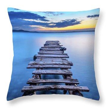 Stillness Throw Pillows