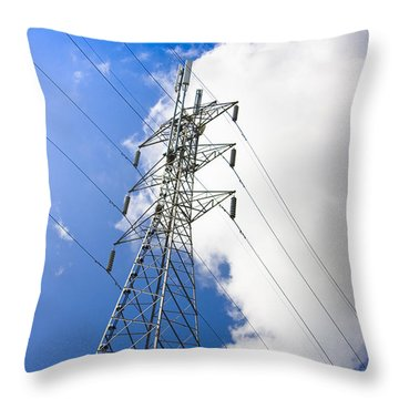 Pillar Of Power Throw Pillow