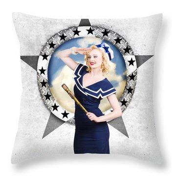 Sailors Girl Throw Pillows