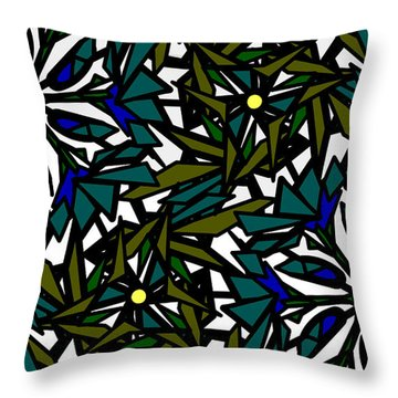 Pin-wheel Flowers Throw Pillow by Elizabeth McTaggart