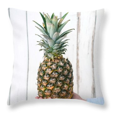 Pineapple Throw Pillow by Viktor Pravdica