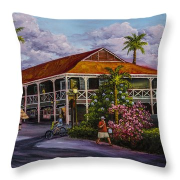 Pioneer Inn Lahaina Throw Pillow