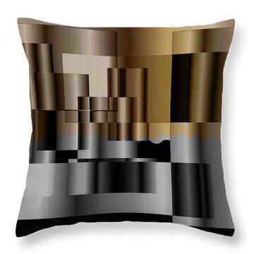 Pipes Throw Pillow by Iris Gelbart